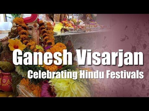 Ganesh Visarjan - Celebrating Hindu Festivals in Toronto