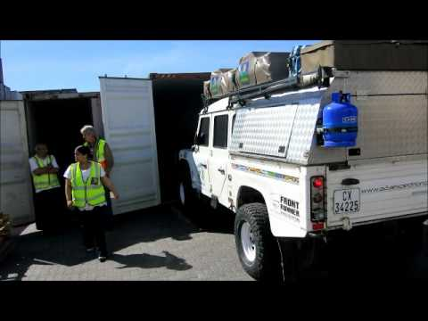 Overlanding the Americas. Ep 1. Shipping the Defender