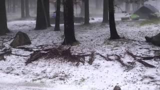 Riggs Flat Lake Hailstorm