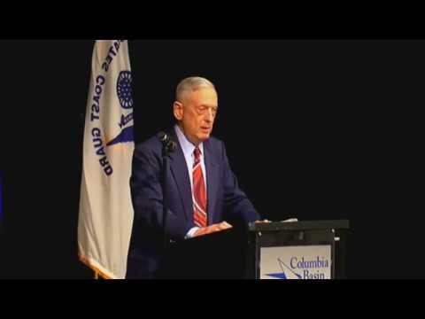 Defense Secretary Mattis speaks about U.S. military service at Columbia Basin College 5/5/2018