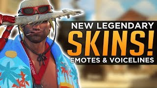 Overwatch: All NEW Legendary SKINS, Voice Lines & Emotes!