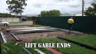 How To Build A Dondex Colorbond Double Gable Carport Kit 6x6x2.4