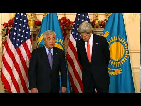 Secretary Kerry Delivers Remarks with Kazakh Foreign Minister Yerlan Idrissov