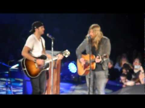 "Luke Bryan & Chris Stapleton ""Drink A Beer"" Morgantown, WV (3/24/13)"