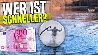 WER schneller im XXL BALL läuft, bekommt 1000€ 😱💶