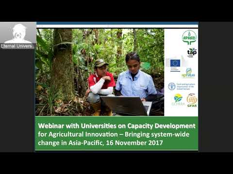APAARI Webinar with Universities on Capacity Development for Agricultural Innovation Systems