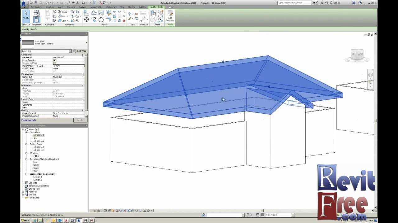 Creating Complex Roof In Revit Architecture Hip Roofs