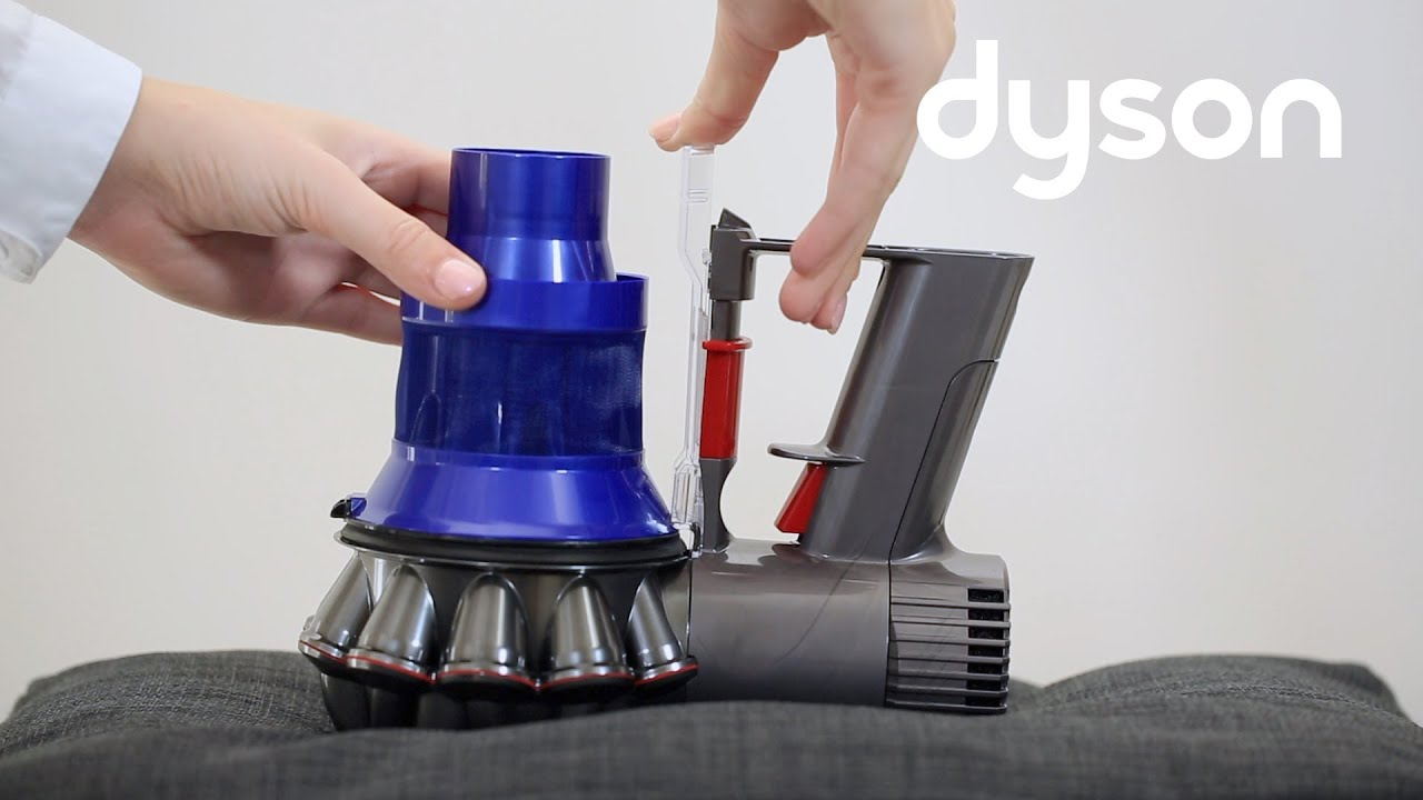 aspirateurs sans fil dyson v6 remplacement du corps principal youtube. Black Bedroom Furniture Sets. Home Design Ideas