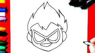 Como Desenhar o ROBIN - Jovens titãs em ação