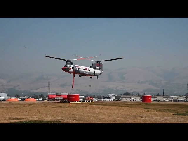 Reid-Hillview Airport supports firefighting crews