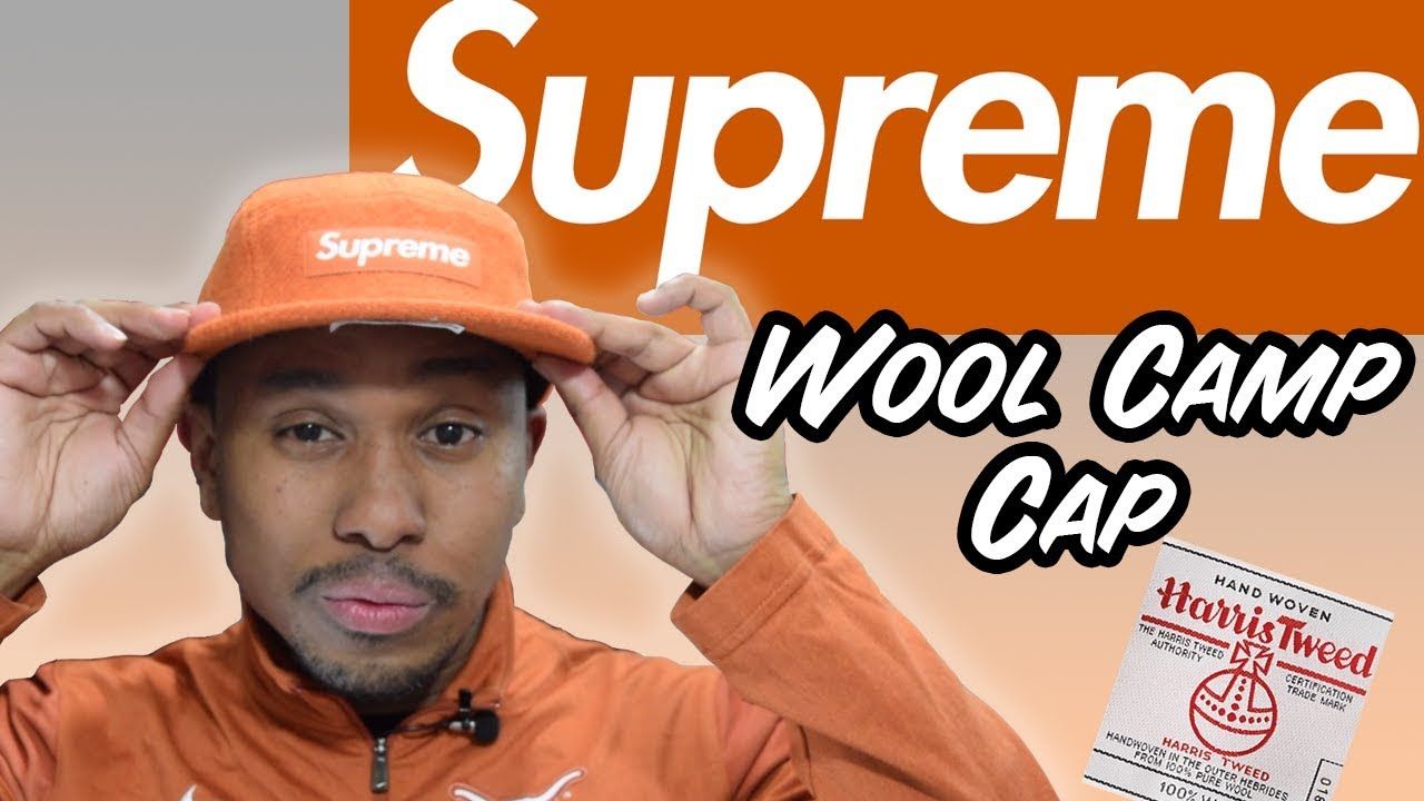 82a83bed6 SUPREME ORANGE WOOL CAMP CAP!