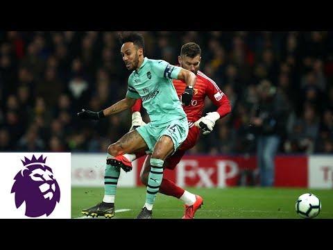 Aubameyang takes advantage of Foster's mistake v. Watford   Premier League   NBC Sports