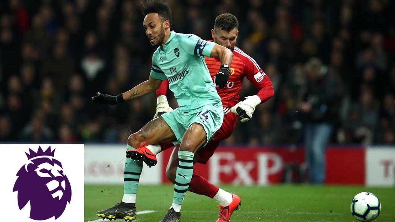 Aubameyang takes advantage of Foster's mistake v. Watford | Premier League | NBC Sports