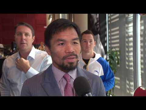 Interview with Manny Pacquiao after Face off with Jeff Horn