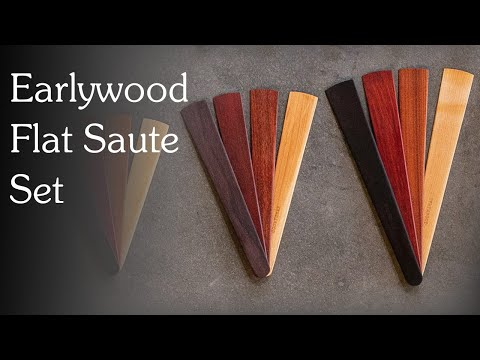 Holiday Gift Guide: Earlywood Flat Saute Set Wooden Utensils