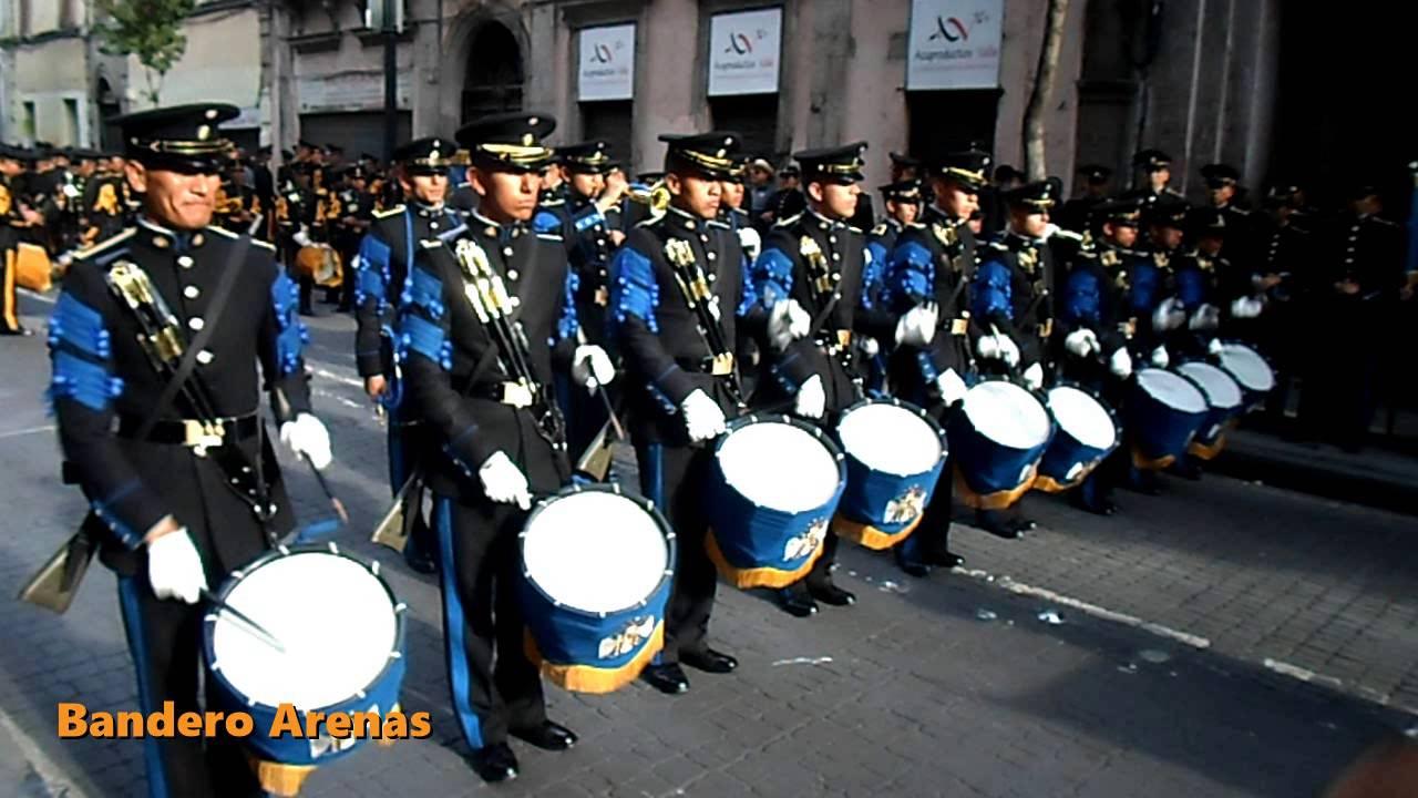 Banda De Guerra Escuela Militar De Ingenieros 2 Youtube
