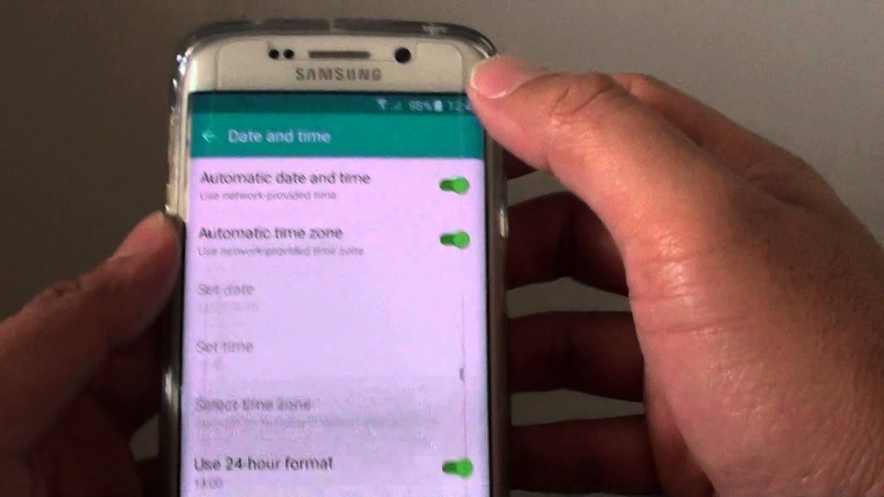 Samsung Galaxy S6 Edge: How to Set the Time Clock to Use 24 Hours Format /  AM PM