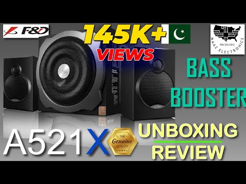 F&D A521X Unboxing - Review in Urdu - Hindi 2.1 Woofer Bluetooth Speaker Test First Time in Pakistan