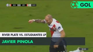 Javier Pinola (1-0) River Plate vs Estudiantes LP | Fecha 25 - Superliga Argentina 2017/2018