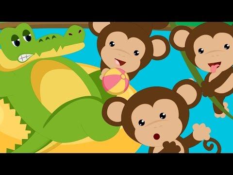 Five Little Monkeys Swinging In A Tree | Monkeys Swinging In A Tree Song | Nursery Rhyme With Lyrics