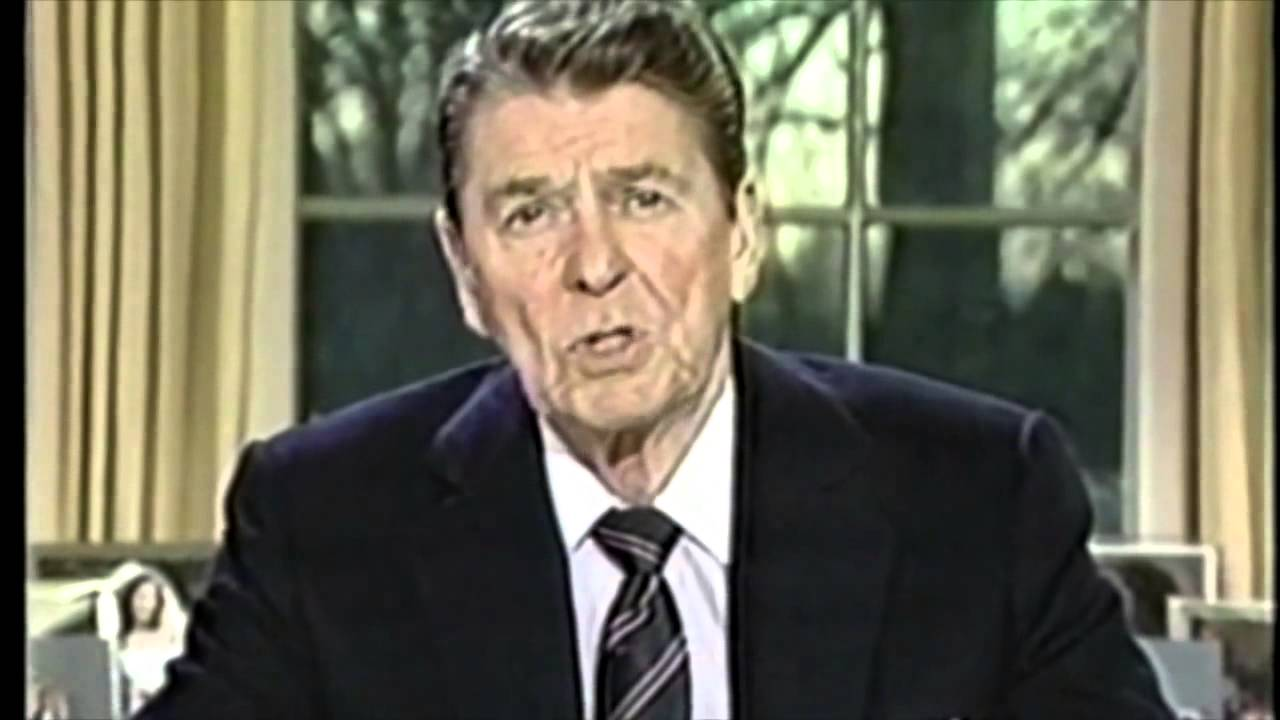 a review of ronald reagans speech on the challenger disaster Thirty years ago, president ronald reagan scrapped his state of the union address to talk about the space shuttle challenger explosion seven people, including a teacher, died on board on jan 28 .
