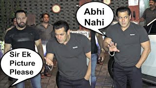 Drunk Salman Khan Refuse To Give Pictures To Fan At Arpita Khan Eid Party