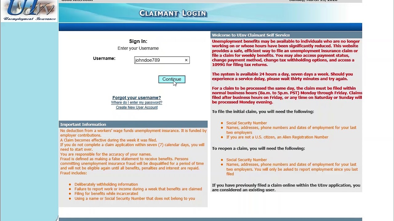 Step 3 How To Claim Weekly Benefits For Nevada Unemployment Insurance Online Claim Filing Youtube