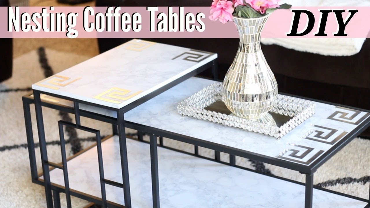 Glam Home DIY Glam Nesting Coffee Tables YouTube
