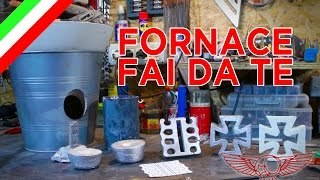 Come fare una mini forgia a gas per metallo - fonderia foundry fai da te - ep 31p1 - Roma CustomBike