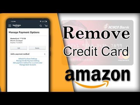 How To Delete Credit Card from Amazon App - YouTube
