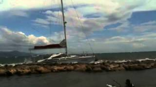 Catamaran crash