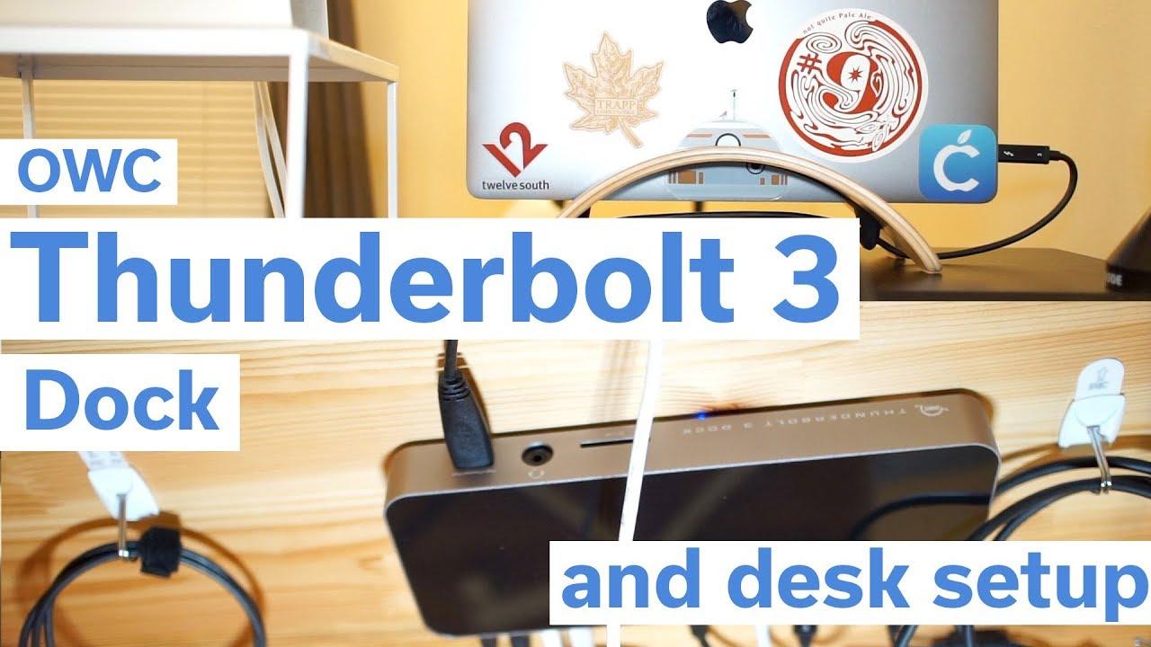 Using the OWC Thunderbolt 3 Dock - My Desk Setup 2018