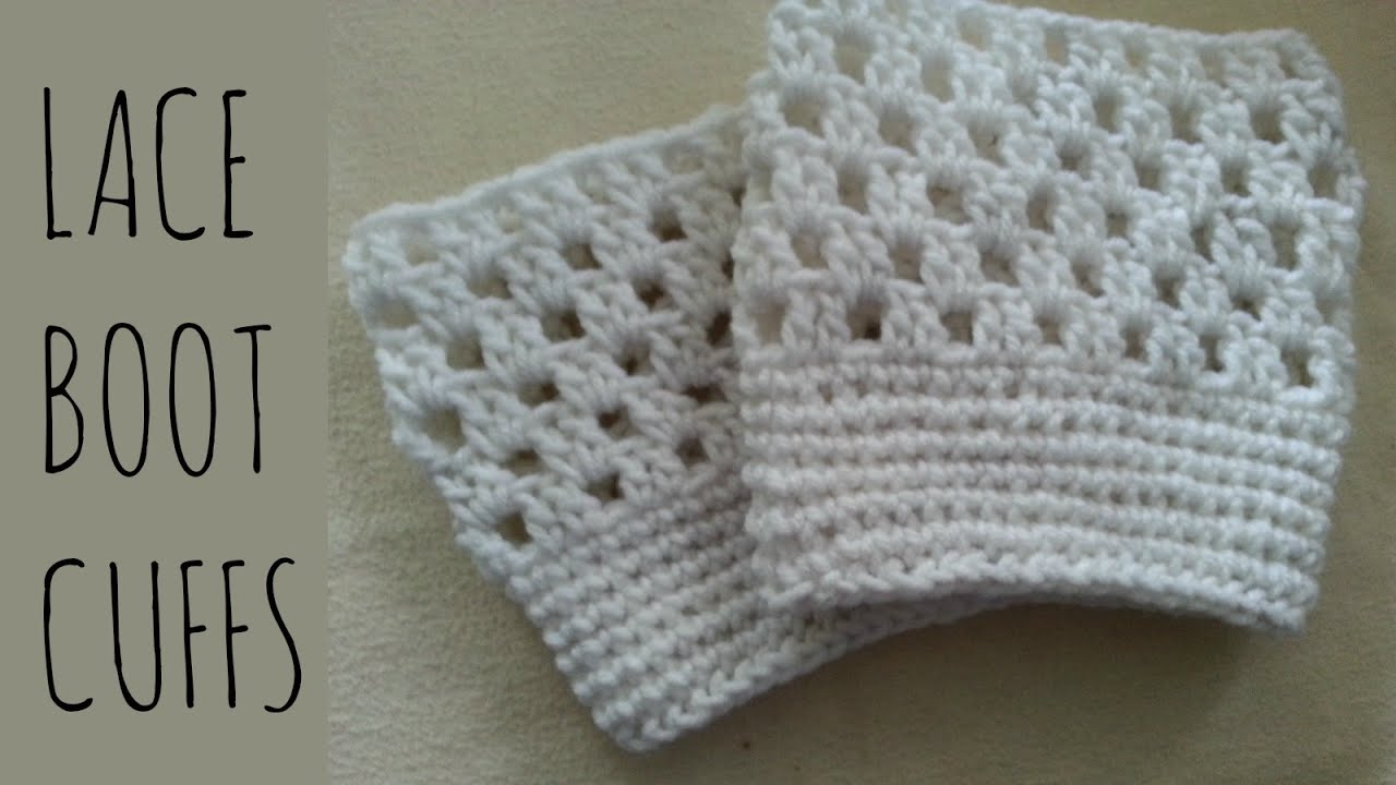 Lace Boot Cuffs | Crochet Pattern | Tutorial - YouTube