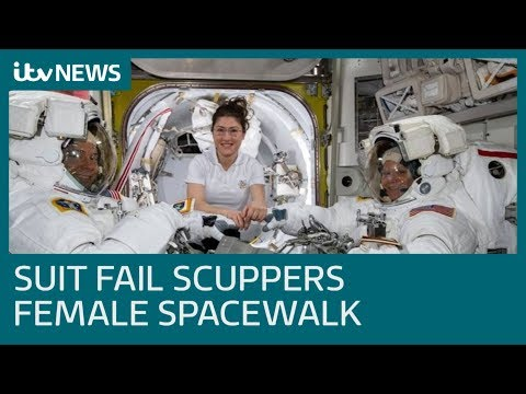 All-female spacewalk cancelled because of a lack of suits | ITV News