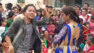 Teej Dance ( Girls Vs Boys ) Never seen this Dance Ever || Gulmi || HD