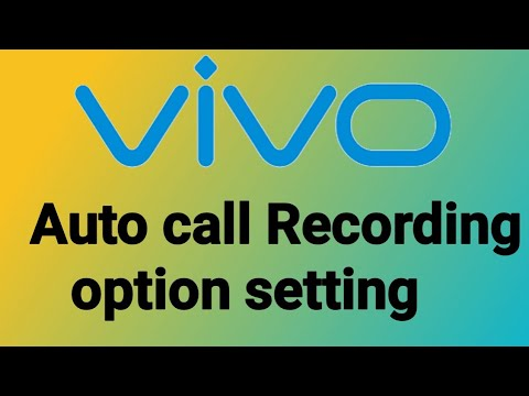 Vivo Auto call recorder settings All Android mobile phone d tech side