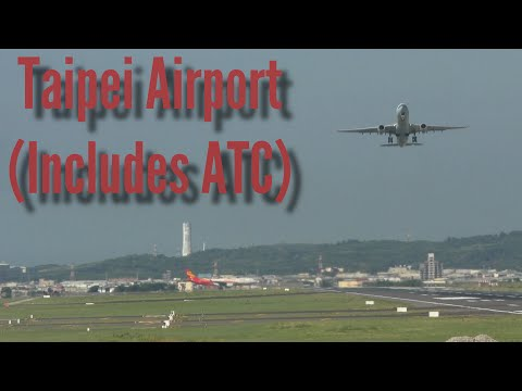 Taipei Airport RCTP Video with ATC