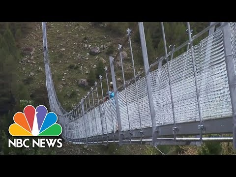 This Record-Setting Suspension Bridge Is Not For The Faint-Hearted | NBC News