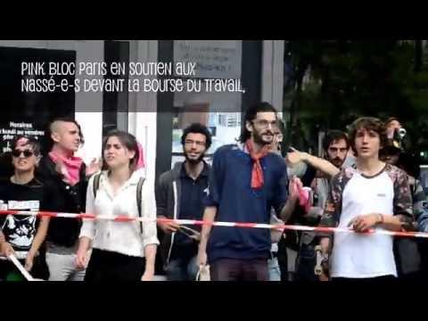 Pink Bloc Paris, Bourse du Travail et Pride de Nuit (28 juin 2016)
