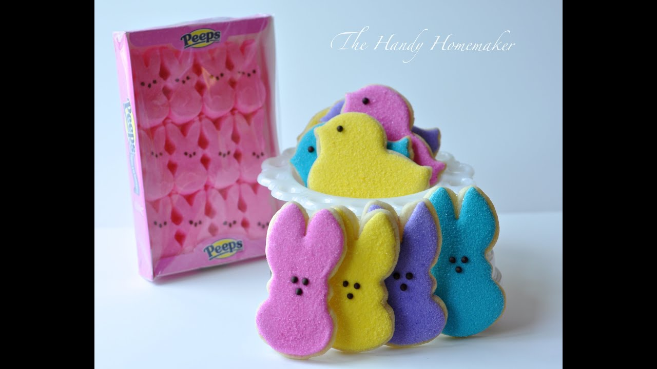Easter Peep Cookies: How to flood a cookie with 20 second Royal ...