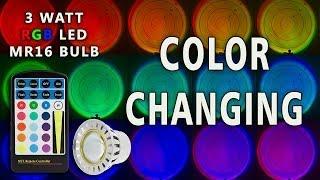 Color Changing LED MR16 RGB Bulb 3 Watt