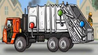 Desenho para criançinhas/Caminhão de lixo/Coleta de lixo/Coletor de lixo/Caixa de lixo/Infantil