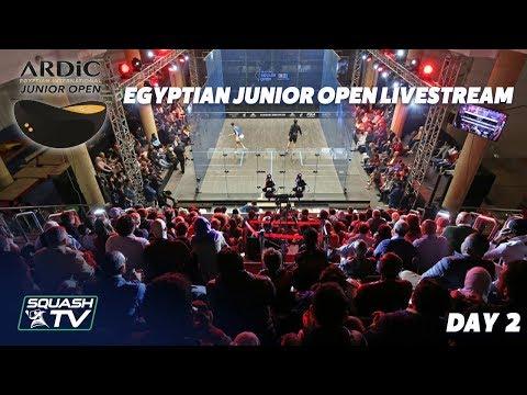 Squash: ARDIC Egyptian Junior Open - Day 2 Livestream