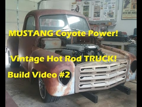 A NEW Mustang Engine in a 1950's Truck? YES! 450HP!!