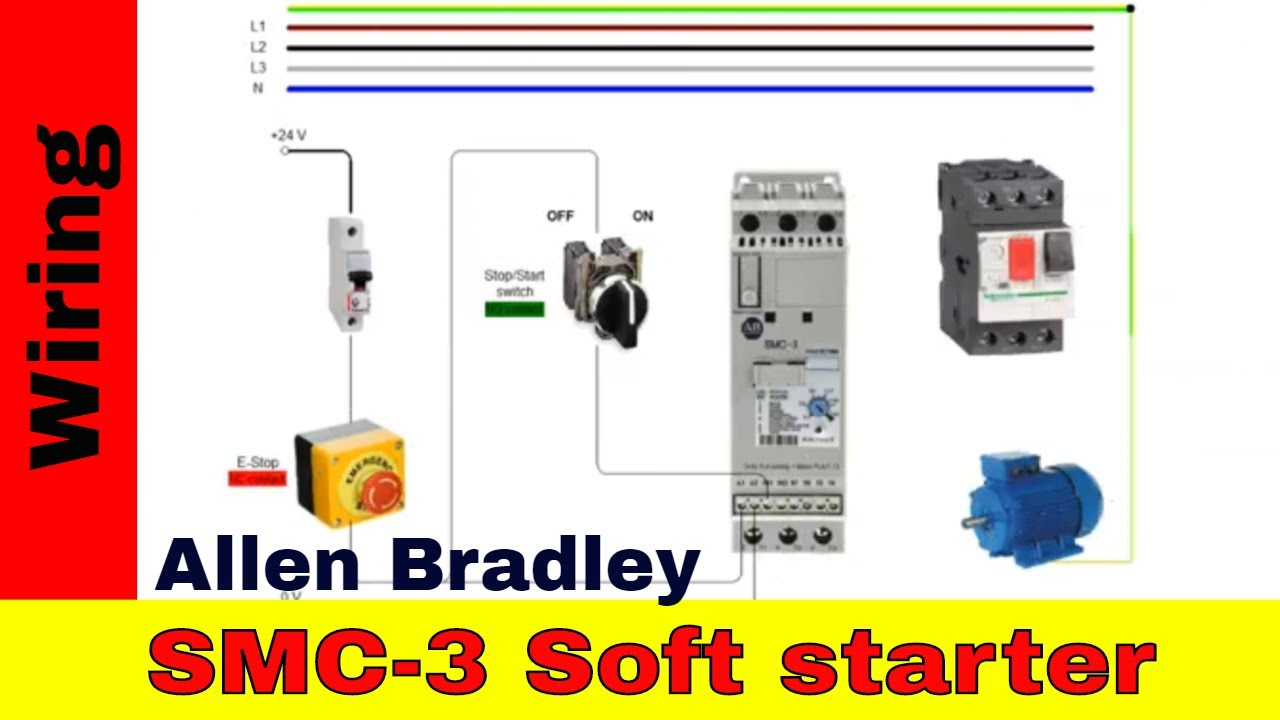 How to wire ALLEN BRADLEY soft starter SMC 3 - YouTubeYouTube