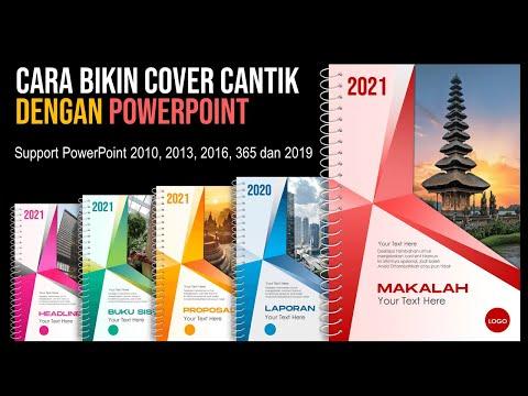 Cara Bikin Desain Cover Cantik Menarik dengan PowerPoint