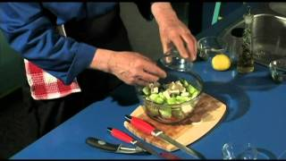 Greek Salad With Homemade Olive Oil Dressing - Easy, Healthy, Nutritious, Delicous