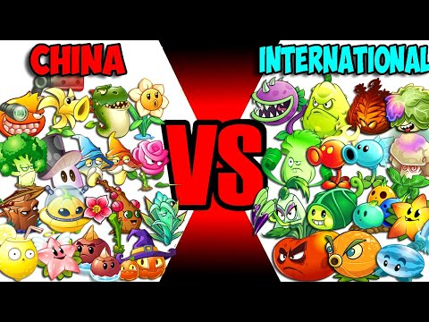 Team CHINA vs INTERNATIONAL (Part 2) - Who Will Win? - PvZ 2 Team Plant Vs Team Plant