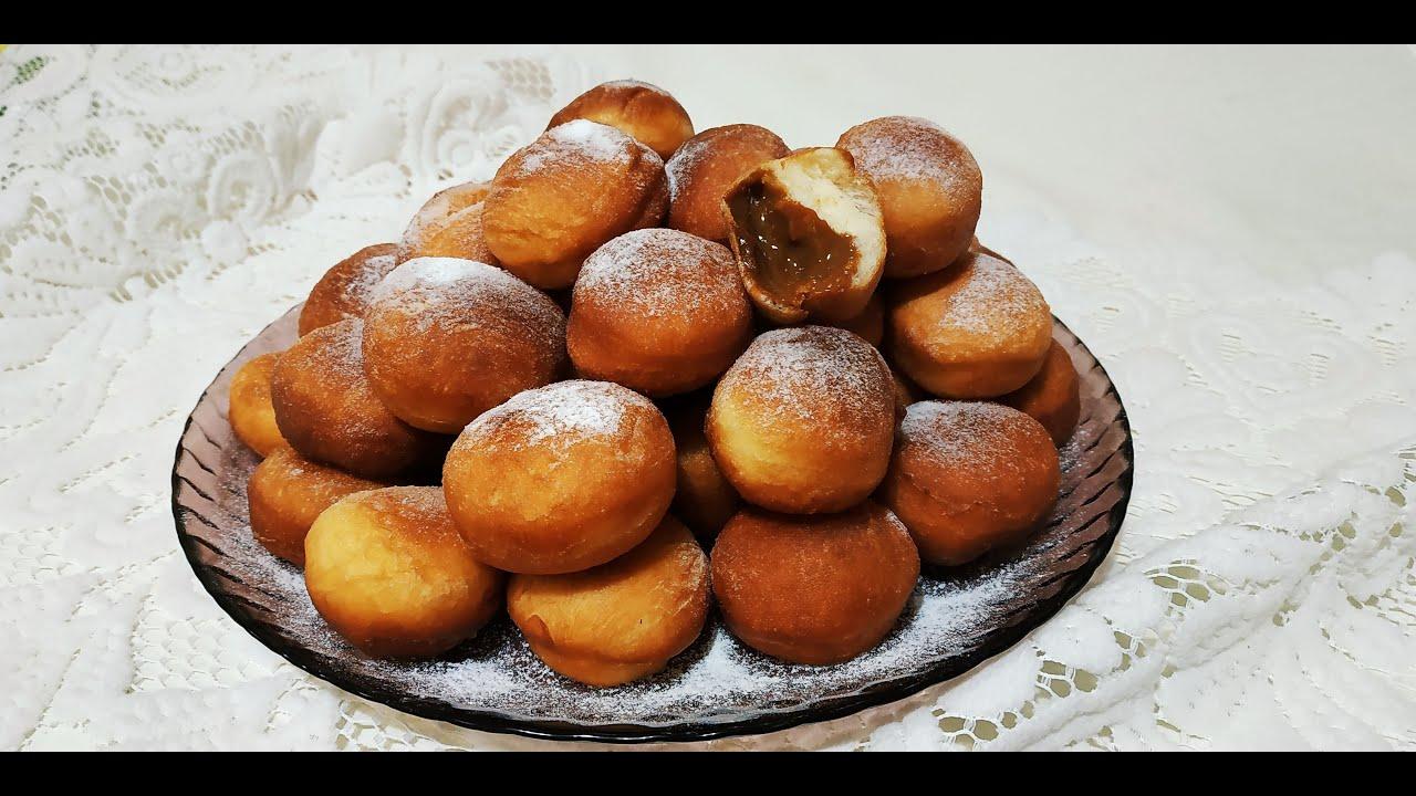 Простой рецепт воздушных пончиков с начинкой!