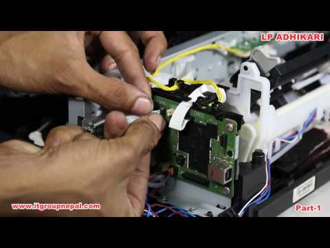 Disassembling Technical Tutorial of Canon Pixma G2000 CIS Inkjet Printer part-01